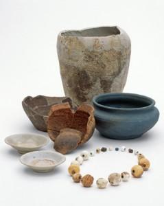 大ウフ遺跡からの出土品(喜界町埋蔵文化財センター提供)