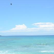 梅雨が明け、夏の青空が広がった奄美地方=29日、龍郷町の手広海岸