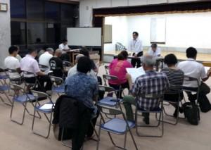 2017年度の事業計画などを決めた「天城町教育文化の町西阿木名地区推進協議会」の設立式(提供写真)