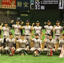 紅龍旗争奪野球大会を制したキャプティ野球部(提供写真)
