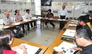 沖永良部島で初開催された大河ドラマ「西郷どん」奄美群島担当者会議=14日、和泊町
