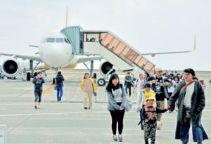 2016年度は70万人を超えた奄美空港の乗降客