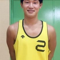 全日本ビーチバレーボール大学男女選手権に出場した鹿屋体育大2年の柳泰雅(提供写真)