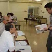 最後隆盛の玄孫・津田直さんが講演した奄美市の生涯学習講座「西郷塾」=9月27日、奄美市名瀬