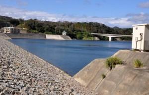2015年3月に完成した徳之島ダム=11日、天城町瀬滝