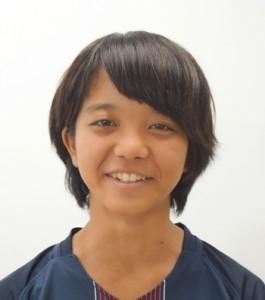全九州高校新人水泳大会の女子バタフライ50㍍で準優勝した池田芽生(提供写真)
