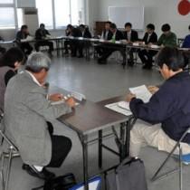 林道山クビリ線の通行規制について協議した徳之島利用適正化連絡会議の初会合=11日、徳之島役場