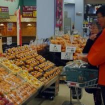 奄美大島産津之輝の知名度向上を図った新潟市での試食販売会(JAあまみ大島事業本部提供)