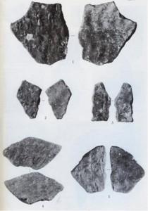 中甫洞穴で発見された奄美群島では最古級の爪形文土器(知名町教育委員会提供)