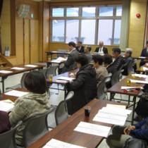 名瀬地区で66番目に誕生した永田町おがみ山自治会の設立総会=25日、奄美市名瀬(提供写真)