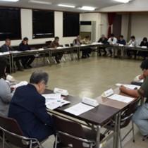 金作原国有林周辺の利用ルールの実証実験について報告があった会議=22日、奄美市名瀬