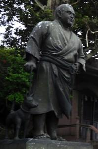 以前の西郷隆盛の立像=2017年9月24日撮影