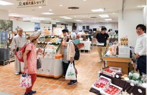 30坪のスペースに奄美群島の逸品を多角的に訴求している「奄美大島ショップAMAMIMAMA」=1日、東急百貨店・吉祥寺店