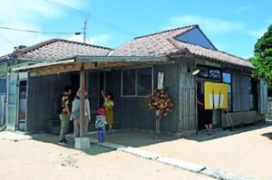 「伝泊」の一環で宿泊施設としてオープンした「海みるテラスの宿」=23日、伊仙町古里
