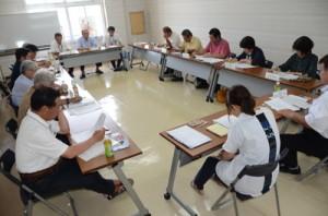 台湾表敬などの事業計画を承認した実行委=6日、龍郷町