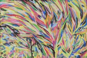 入選した坂井さんの絵画「あじさいの花」