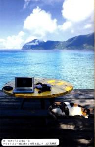 (上から)「週末島旅」と、加計呂麻島で過ごした一こま
