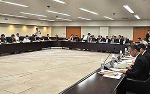 意見具申案を了承した奄振審議会=12日、東京都千代田区の中央合同庁舎