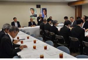 2019年度奄美関係予算について協議した自民党の奄美振興特別委員会=31日、自民党本部