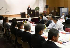10周年の節目を祝った記念式典=11日、伊仙町伊仙