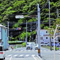 事業が凍結されているおがみ山バイパス予定地=29日、奄美市名瀬