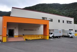 名瀬・住用地区の18校に配食を行う給食センター
