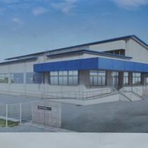 来年7月末に完成予定の知名町立学校給食センター(イメージ図)