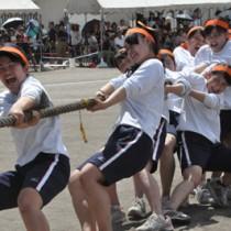 20種目で熱戦を繰り広げた大島高校の体育祭=2日、奄美市名瀬