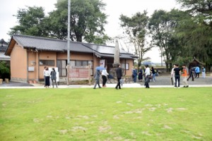 菊池市に開園した「西郷南洲公園」=24日、同市砂田