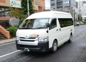 佐仁―奄美空港で運行予定のジャンボタクシーと同型の車両