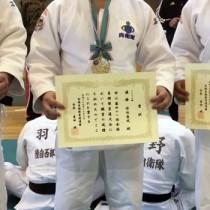 全国自衛隊柔道大会個人90キロ級で優勝し、講道館杯に出場する保池さん(提供写真)