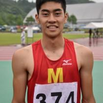 U―18日本陸上選手権の男子400㍍障害で3位入賞した田中天智龍