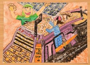 営農推進本部長賞を受賞した阪野君の作品