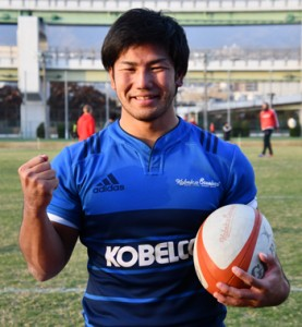 ワールドカップ日本代表入りを目指す重選手=2018年11月30日、神戸市
