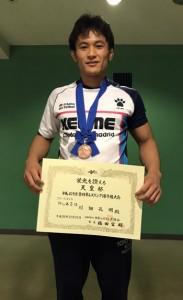 男子フリースタイル79キロ級で3位入賞の川畑(提供写真)