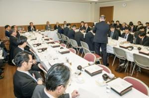 2019年度奄美関係予算について協議した自民党の奄美振興特別委員会=19日、同本部