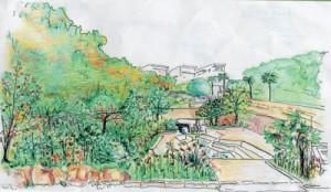 稲水公園の整備後イメージ図