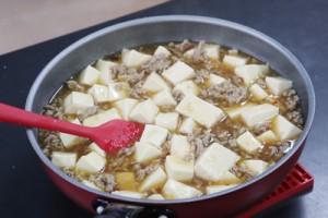 料理教室で作った「ごま油が香る和風マーボー豆腐」