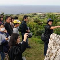 与論城跡の歴史的価値強調 与論で奄美考古学会