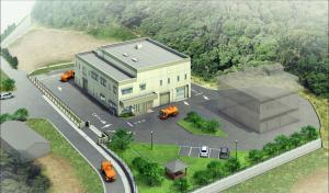 建設工事が着工した瀬戸内町汚泥再生処理センター(仮称)のイメージ図(同町提供)