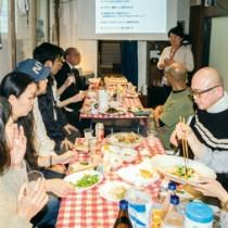 島での暮らしや就労環境について意見交換が行われた和泊町の協力隊募集説明会=25日、東京都品川区