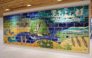 現庁舎から新庁舎に移設された陶板壁画