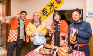準備したタンカン250キロが完売した大和村のイベント会場=5日、東京・板橋区大山