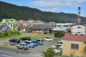 3%超の上昇地点もあった龍郷町玉里の住宅地=19日