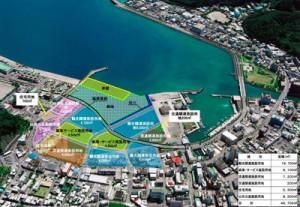 名瀬港本港地区の土地利用計画図