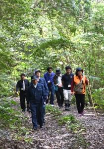 4月から利用規制が始まる三京林道=19日、天城町三京