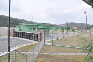 瀬戸内町節子地区に開設される瀬戸内分屯地=7日