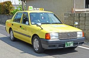 運行時刻に合わせて前肥田集落を走る乗り合いタクシー=2日、奄美市笠利町