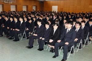 県立農業大学校入学式写真 丸山