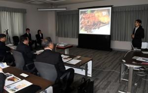 徳之島でのフィールドワーク報告や提言があった報告会=4月25日、鹿児島市の鹿児島大学